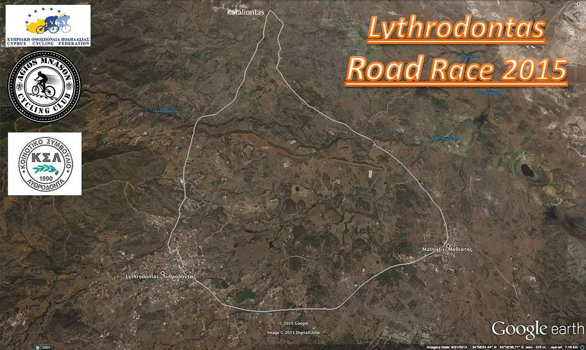 lythrodontas road race 2015 map